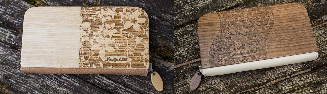 naravna, unikatna, ročno izdelana, moderna lesena denarnica...